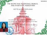 """165 Stunden Zusatzausbildung """"professional thai massage for health"""""""